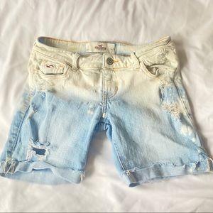 Hollister Acid Wash Mid Length Shorts